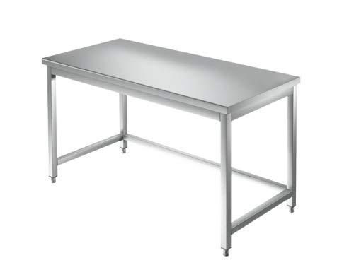 VM Europa Arbeitstisch 0,5 x 0,6 m Edelstahl Packtisch ohne Aufkantung und Boden