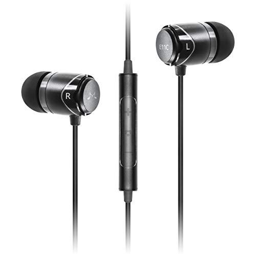 SoundMAGIC E11C Black - Premium In-Ear Kopfhörer mit Fernbedienung und Mikrofon (Kopfhörer-fernbedienung)