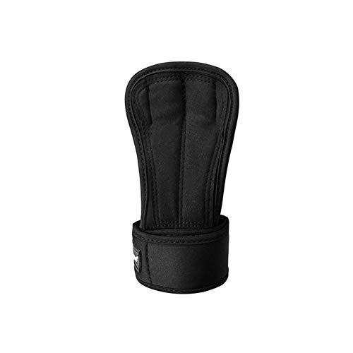 Trainings-Griff-Handschuhe Pads mit starkem Handgelenk-Verpackungs-Klammer-Stütz Zwei Finger zu heben Griffe Polsterung Workout Fitness Gewicht Gym Hand voll Palm-Schutz