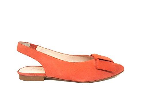 MANI MANILDA Zapatos de Salón Mujer Coral / Beige Gamuza (36 EU, Coral)