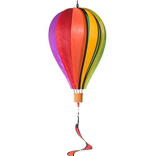 CIM Windspiel - Satorn Balloon Twister Rainbow - Wetterbeständig - Ballon: Durchmesser - 23cm x 37cm, Spirale: 11 cm x 50cm - Inklusive Aufhängung