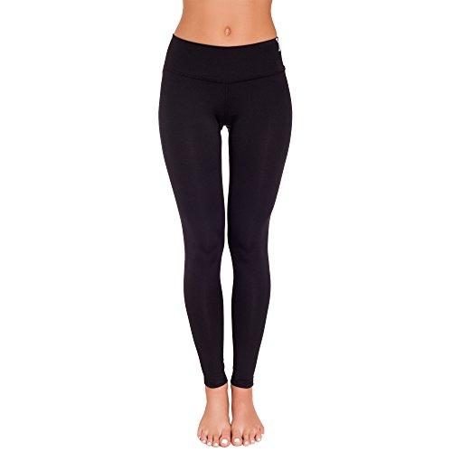 Gwinner Damen Slimming Leggins Sporthose Fitnesshose, schwarz, S