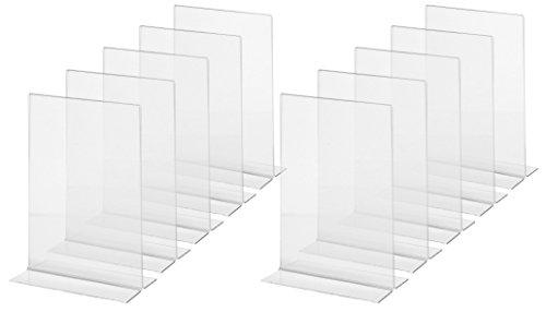 SIGEL TA222 Lot de 10 Présentoirs verticals de table, 15 x 21,5 x 5,3 cm, acrylique transparent