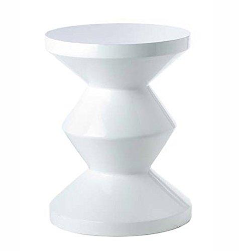 Hocker Zig Zag weiß - pols potten, Hocker, Stuhl, Design, Designhocker, extravagant, Dekoration, Möbelstück, Sitzgelegenheit, ausgefallen, modern, stylish, Stil, Tisch
