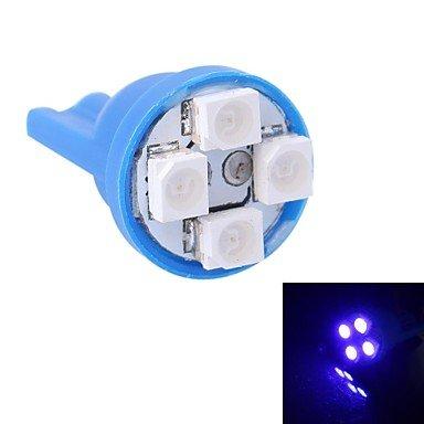 GANTA® t10 4w 120lm 4 x 3528 SMD LED blaues Licht für Auto-Instrument wenig / Tür / Kofferlampen (DC 12V) , blue
