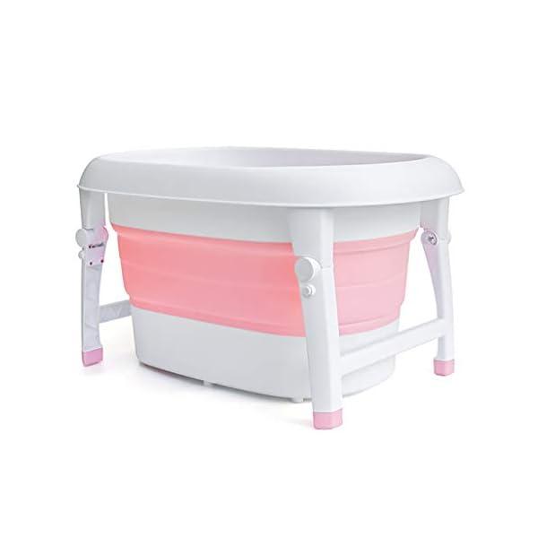 AIYE Plastic Folding Bathtub,Baby Bath Tub,Portable Collapsible Bathtub,Children's Folding Shower Tray,Bathtub,80 * 53 * 43cm Big Space,3 Colors 2