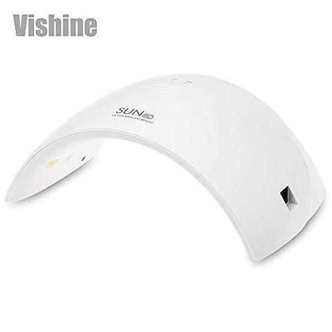 Vishine SUN9C 36W Lampe LED Sèche-ongles Portable Séchoirs à Ongles Lumière Blanche Lampe à Polymériser Nail Art - Normes européennes
