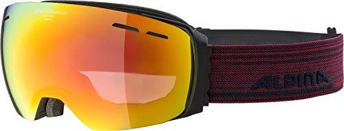 ALPINA Unisex- Erwachsene Granby QVMM Skibrille, matt schwarz, One Size