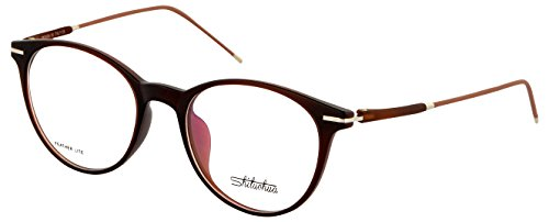 Shiluohua Rimmed Round Unisex Spectacle Frame - TR OVAL SIL_5|55 mm