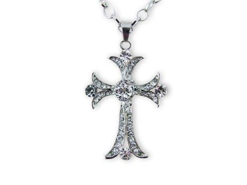 Halskette mit Strass Kreuz -