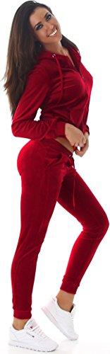 Jela London -  Completo sportivo  - Basic - Maniche lunghe  - Donna Dunkel-Rot