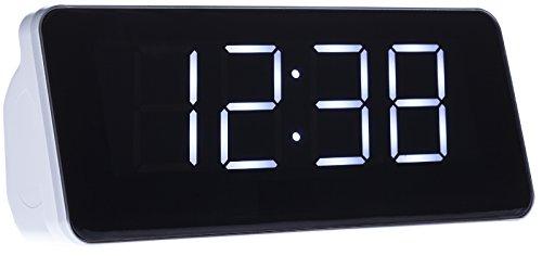Uhrenradio | Radiowecker | Wecker | Digitaler LCD-Wecker | Digitaler Radiowecker | Dual Alarm | 1,8 Zoll Display | Schlummerfunktion | FM/AM | Externe Antenne | 20 programmierbare Radiosender | Weiß