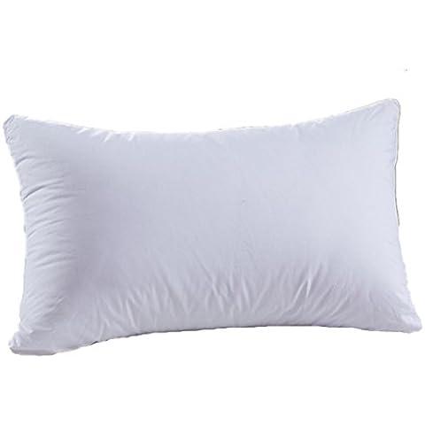 Camera da letto sonno cuscino inserti, annoda casa Hotel morbido cotone poggiatesta cuscino da letto cava (rettangolo 45x 74,9cm)