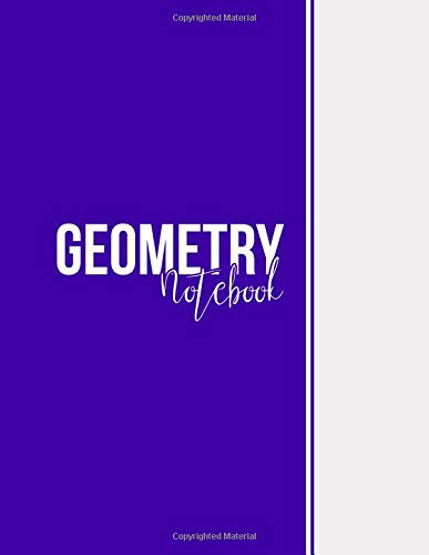 Geometry Notebook: Blank Notebook, Unlined Pages, Large(8.5 x 11 inches), 101 pages, Matte, Blue Violet