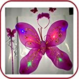 Funcart LED Light up Butterfly wings Set...