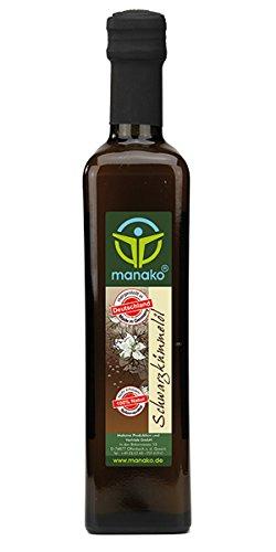 500 ml Pure Huile de Nigelle Vierge d'Egypte, Huile de Cumin noir Nigella Sativa...