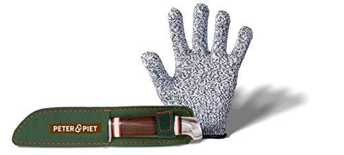 Peter & Piet. Schnitzmesser-Set für Kinder: mit Schnitzhandschuh