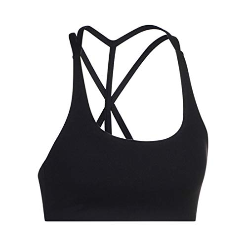YUQINN Mode Frauensport-BHS Stoßfestes Laufen Fitness Yoga Gym Activewear Shapewear (Color : Black, Size : XS)