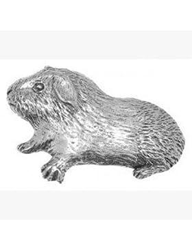 Zinn Brosche Meerschweinchen in Organzabeutel