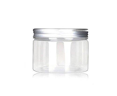 6PCS 4Oz Bouteille vide réutilisable vide de récipient de récipient de bouteille de voyage avec des casquettes en aluminium argentées pour le stockage cosmétique de lotion de crème