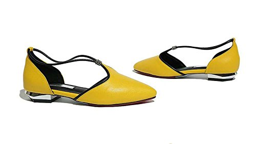 onfly-donne-dolce-moda-macarone-scarpe-pelle-x-strap-cavo-sandali-pompe-ballerine-yellow-39