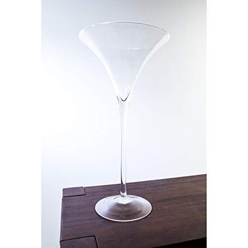 INNA Glas Set 2 x XXL Cocktailglas/Martiniglas Sacha, klar, 50 cm, Ø 25 cm - Hochzeitsdekoration/Dekovase