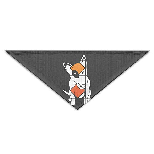 Pet Bandanas Art Bull Terrier Hund Cartoon Hund Bandanas Schals Dreieck Lätzchen Schals Cool Basic Dogs Halstuch (Glo-bee)
