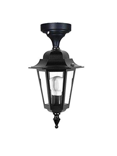 LISB205-NERO/RUGGINE - ILLUMINAZIONE ESTERNO GIARDINO LANTERNA LAMPADA A SOFFITTO - PRODOTTA IN ITALIA DA VALASTRO LIGHTING