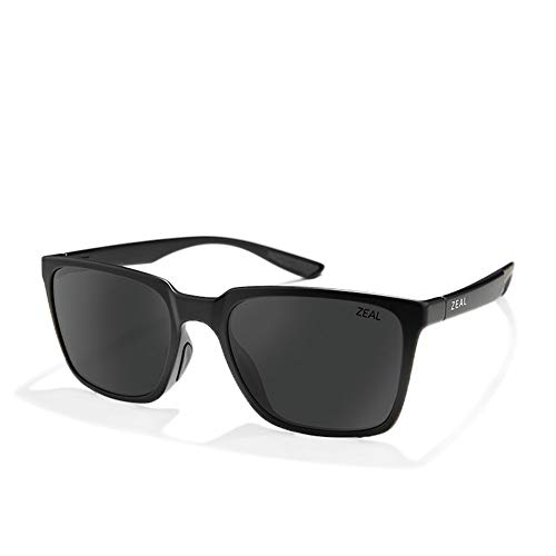 Zeal Campo Sunglasses One Size Matte Black ~ Dark Grey Polarized