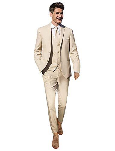 YYI Herren 3 Stücke Hochzeit Anzüge für Männer Business Männer Anzüge Bräutigam Formale Smoking -