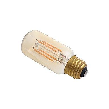 HZZymj-3.5 E26 Bombillas de Filamento LED T 4 COB 300 lm Ámbar Regulable / Decorativa AC 110-130 V 1 pieza