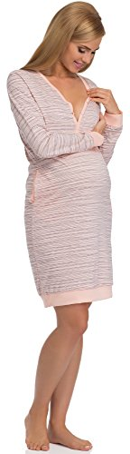 Cornette Camicie da Notte Premaman 606 Albicocca/Blu Scuro