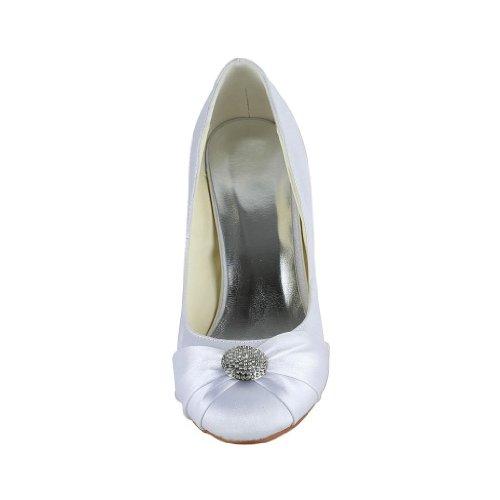 Jia Jia Wedding 5949411B chaussures de mariée mariage Escarpins pour femme Blanc