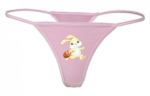 String Tanga Ostern- HASE- Kaninchen- Tier- Anthropomorphe- Korb- Eier- Cartoon- Comic XS- XXL Damen String Sexy Unterhose