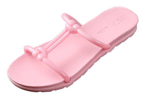 Minetom Donna Estate Plastica Sandali Infradito Sandals Delle Signore Spiaggia Piscina Slippers Pantofole Rosa