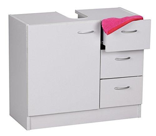 Wohnling wl1.345, mobile per lavabo, con 3 cassetti e 1 anta, 54 x 63 x 30 cm, bianco (weiß)