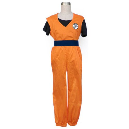 sche Anime Dragon Ball Cosplay Kostuem - Son Goku Outfit 2nd Ver-Îò Kid Size Large ()