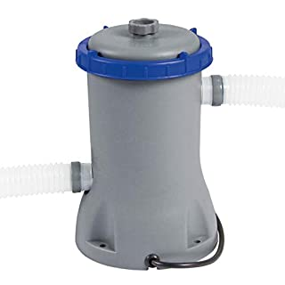 Bestway Flowclear 530gal Filter Pump Swimming Pool, Grey, 30.5x32x24.5 cm