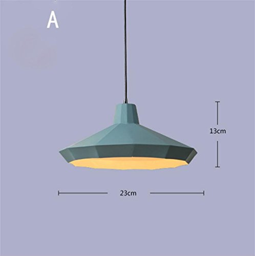 Lh&Fh Loft Retro Kronleuchter Beleuchtung Industrie-Aluminium-Anhänger-Beleuchtung LED-Weinlese-Lampe 220V, a -