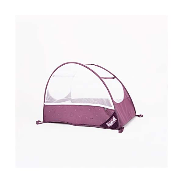 Koo-di Pop Up Travel Bubble Cot with Mattress and Mosquito Net Gumdrop - suitable from 6 to 18 mths  A comfortable cot ideal for use at home while baby rests during the day, out and about, on holidays or weekends away Most suitable for use from 6 months to approximately 18 months and when outgrown, makes an ideal playhouse for little ones. Comes complete with padded mattress and integrated zip-up mosquito net 1