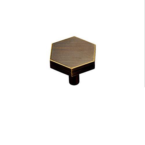 NAFE Möbelgriff aus reinem Kupfer, für Schranktüren, Schubladen, Schubladen, Möbelgriff, Knauf und Griff, Glas, 6, Größe - Traditionellen 6-schublade Kommode