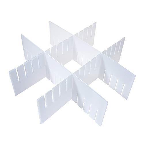 nwand für Schubladen, Kunststoff, Weiß Large - 12pcs ()
