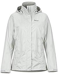 Marmot Wm's Precip Eco Jacket Chubasqueros, Chaqueta, Prueba De Viento, Impermeable, Transpirable, Mujer, Platinum, XXL