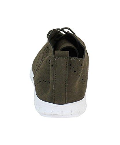By Shoes - Damen Schnürhalbschuhe Vert