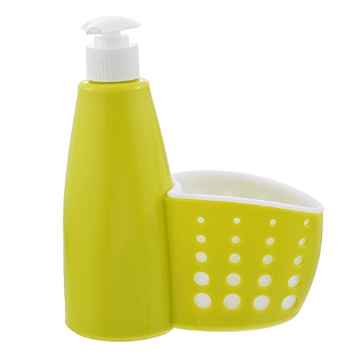Nibesser Sink Caddy Kitchen Sink Organizer Sponge Holder Soap Dispenser for Kitchen Bathroom