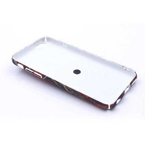 iProtect Hardcase mit Ring Blüten Schutzhülle in Transparent Schwarz mit Fingerhalterung für Apple iPhone 7, iPhone 8 Chaos bunt.
