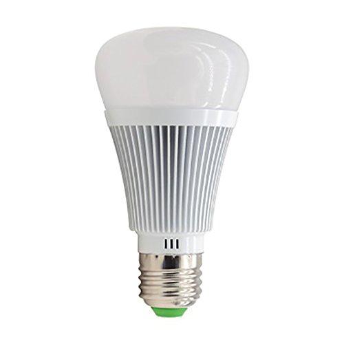 Kakiyi E27 Color LED Smart Birne, arbeitet mit Amazon Alexa, Dimmable, kontrolliert von einem Smartphone, 1 Pack