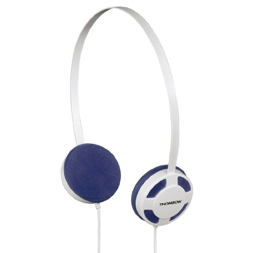 Thomson HED1112W/BL On-Ear Stereo-Kopfhörer (3,5mm Klinkenstecker) weiß/blau
