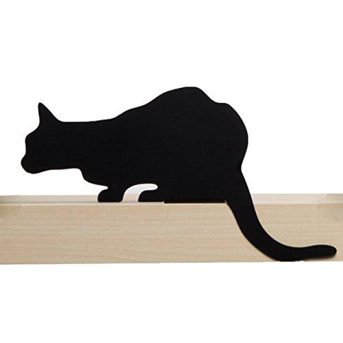 Artori Design Ad192cb – de Chat Meow – Churchill – décoratifs en métal Noir Chat Silhouette