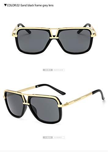 Brillen,Sonnenbrillen,Zubehör,Men's Sunglasses New Big Frame Goggle Summer Style Sun Glasses Gafas De Sol UV400 KP18002 sand black gray